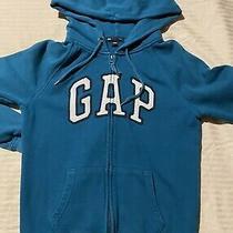 Gap Logo Zip Hoodie Teal Blue Xs Juniors Photo