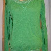 Gap Long Sleeve Crewneck Solid Green Blouse Size Xl  Photo