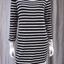 Gap Long Sleeve Sweater Dress Size M Black and Gray  Photo