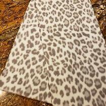Gap Loop Infinity Scarf Leopard Print Cream Tan Beige Super Soft 3' Photo
