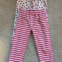 Gap Lot of 2 Red and White Fleece Sleep Lounge Pants - Pajamas - 2 Pairs - Sz 4 Photo