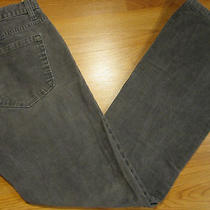Gap Low Rise Boot Cut Size 30 Womens Grey Corduroys Zipper Fly Photo