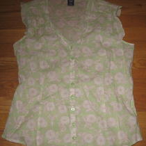 Gap M Blouse Top Summer Sheer Sleeveless  Photo