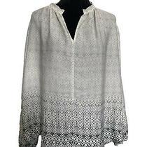 Gap M Medium/large Nwt Ivory Blouse Top Long Sleeves Womens Clothing Photo