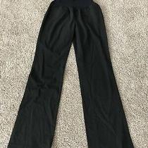 Gap Maternity 2 Long Black Stretch Modern Boot Dress Pants  Photo