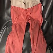 Gap Maternity Best Girlfriend Pink Pants Ankle 6 Medium Photo