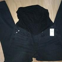 Gap  Maternity Black Jeans 28 R  Nwt Photo