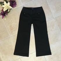 Gap Maternity Black Pants Hip Slung Fit Women's Size 6 299 Photo