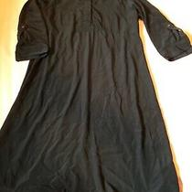 Gap Maternity Black Silky Dress Size Med Photo