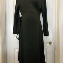 Gap Maternity Black Wrap Dress Long Sleeved Xl Photo