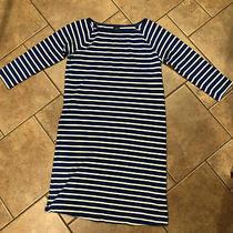 Gap Maternity Blue White Striped Cotton Knit Dress Xs  Photo