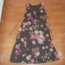 Gap Maternity Brown Sundress With Floral Design Size S Photo