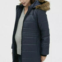 Gap Maternity Coldcontrol Puffer Coat With Detachable Hoodblack Size M 485580 Photo