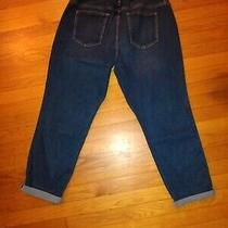 Gap Maternity Dark Blue Jeans Full Panel Girlfriend 33 Regular Size 16 Nwt Y004 Photo