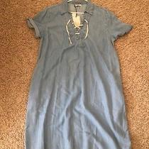 Gap Maternity Dress Large Chambray Denim L Fall New Photo