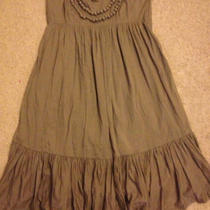  Gap Maternity Dress Size L Olive Photo