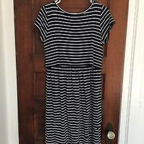 Gap Maternity Dress Size S Navy White Stripe Layered Nursing T-Shirt Photo