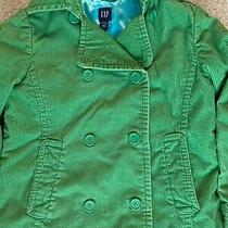 Gap Maternity Green Corduroy Peacoat Jacket Lined Excellent Condition Med M   Photo