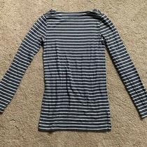 Gap Maternity Grey and White Striped Shirt Sz S Photo