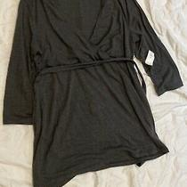 Gap Maternity Grey Nursing 3/4 Sleeve Shirt Size Medium Photo