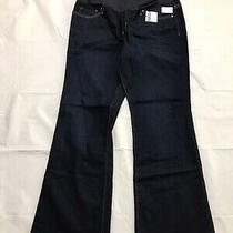 Gap Maternity Jeans Size 33/16r Long and Lean Dark Wash Stretch Denim Flare Nwt Photo