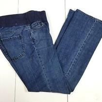 Gap Maternity Jeans Size 6 Regular Maternity Womens Bootcut Blue Stretch Photo