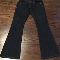 Gap Maternity Jeans Sz 26 2s Sexy Boot Full Belly Panel Dark Wash  Photo