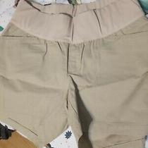 Gap Maternity Khaki Shorts 6 R Nwot Under Belly Band Photo
