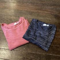 Gap Maternity Long Sleeve Stretchy T-Shirt Comfy Xxs/s Blue Pink Lot 2 Pregnancy Photo
