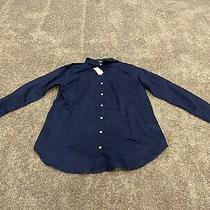 Gap Maternity Navy Button Down Career Blouse Xs Nwt Photo