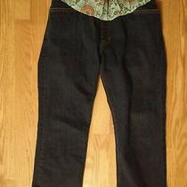 Gap Maternity Pants Jeans Cropped Length Elasic Comfort Waist Womens Size 8 Reg Photo