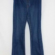 Gap Maternity Size 10 Regular Blue Stretch Pull on Straight Leg Denim Jeans  Photo