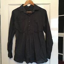 Gap Maternity Size L Large Long Sleeve Bluey/grey Cotton Blouse  (I10) Photo