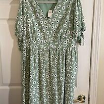 Gap Maternity Size Xl Green Floral Dress  Photo