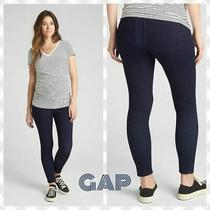 Gap Maternity Soft Wear Comfort Panel Skinny Jeggings Navy Blue Womens Size 2 Photo