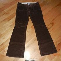 Gap Maternity Stretch Low Rise Under Belly Brown Smooth Corduroy Jeans Pants 8 Photo