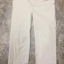 Gap Maternity Sz 6 Tan Khaki Cropped Capri Shorts Pants Elastic Waist Stretch Photo