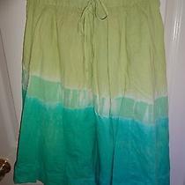 Gap Maternity Tie Dye Skirt Green Size 4 Xs Elastic Waist Bohemian Peasant Nice Photo