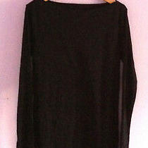 Gap Maternity Top M Nwt Boatneck Black Long Sleeves Classic Photo