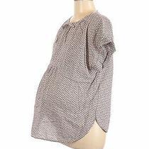 Gap - Maternity Women Brown Short Sleeve Top M Maternity Photo