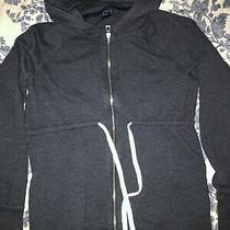 Gap Maternity Zip Hooded Soft French Terry Sweatshirt Size Xs (Charcoal Heather) Photo