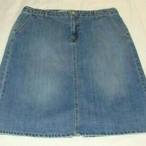 Gap Medium-Light Wash a-Line Denim Jean Skirt Sz 12 (25 Inch Length) Photo
