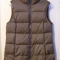 Gap Medium Taupe Down Vest Sz Medium Photo