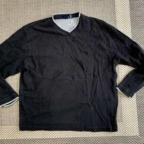 Gap Mens Black Classic Cotton Sweater Size L  v Neck Long Sleeve Pullover Photo