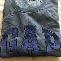 Gap Men's Blue Pullover Sweatshirt Crew Neck Medium M Size New Photo