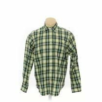 Gap Men's  Button-Up Long Sleeve Shirt Size L  Green Yellow  Cotton Photo