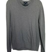 Gap Mens Gray Medium v-Neck Sweater Photo