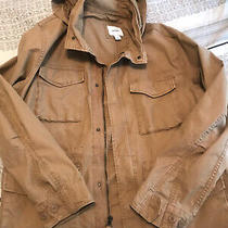 Gap Men's Military Hunting Workwear Jacket Sz Xl Tan Hood  Photo