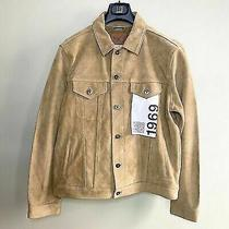 Gap Men's Natural Western Suede Jacket Msrp  599 Size Xl Photo