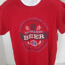 Gap Men's Red Dogeared Beer Tee Shirt Size M Photo